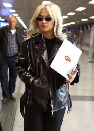 Rita Ora - Jets off out of Milan