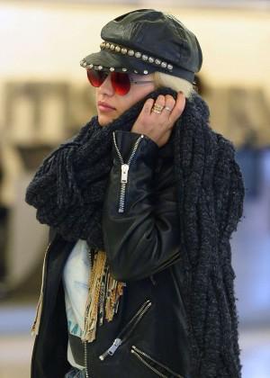 Rita Ora in Jeans at JFK Airport in New York City