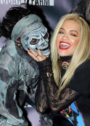Rita Ora - Knott's Scary Farm Black Carpet in Buena Park