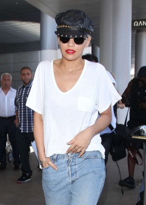 Rita Ora - LAX airport in LA
