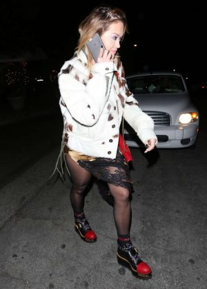 Rita Ora - Leaves a Recording Studio in Los Angeles