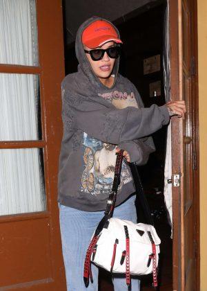 Rita Ora - Leaves Ago restaurant in West Hollywood