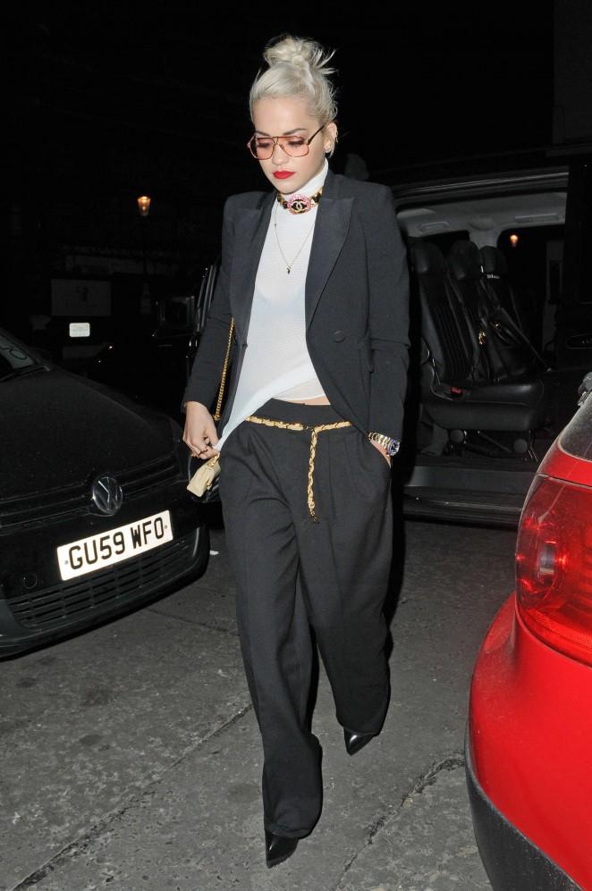 Rita Ora: Leaves Groucho Club SoHo -06