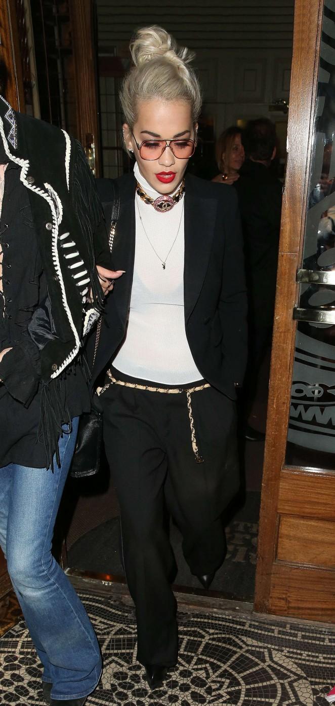 Rita Ora: Leaves Groucho Club SoHo -08