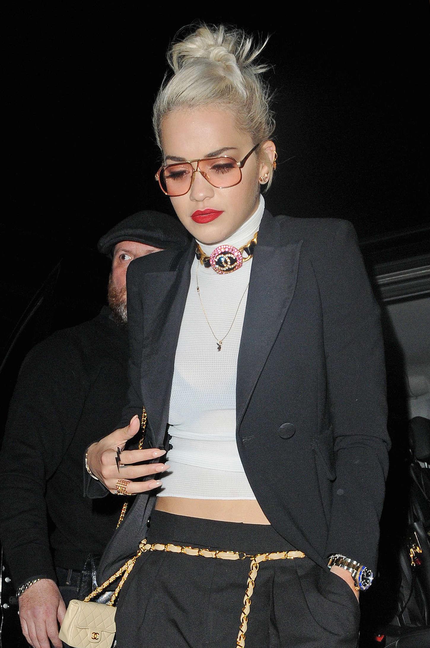 Rita Ora - Leaves Groucho Club SoHo in London