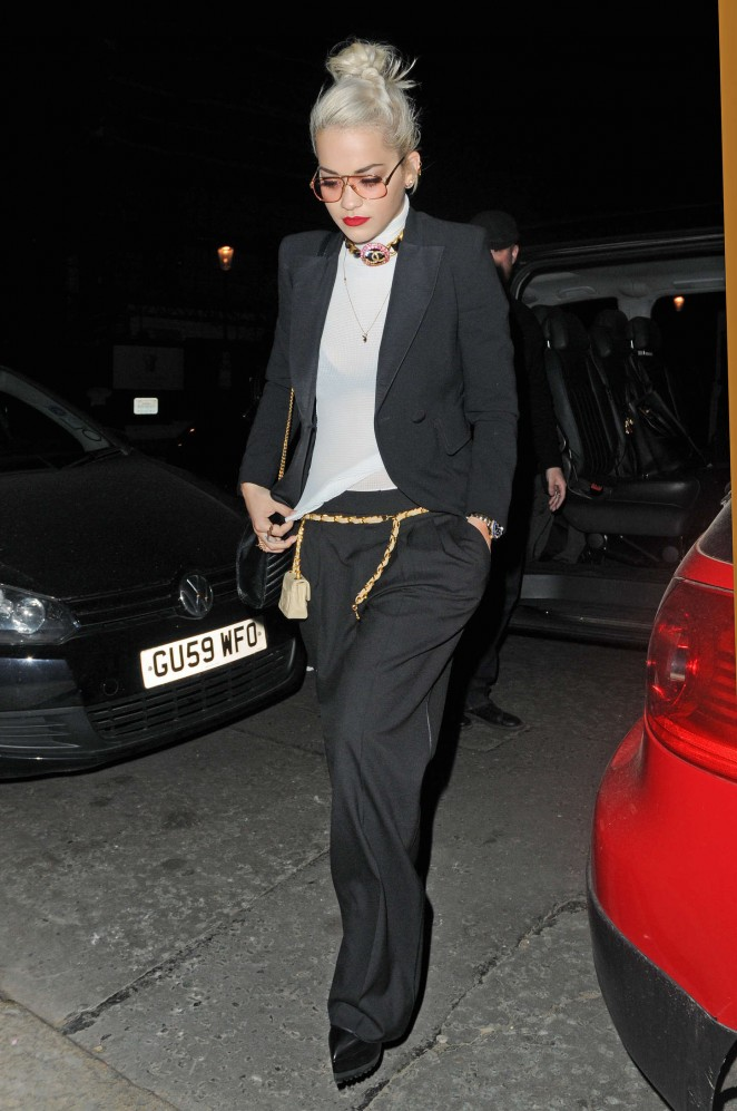Rita Ora: Leaves Groucho Club SoHo -17