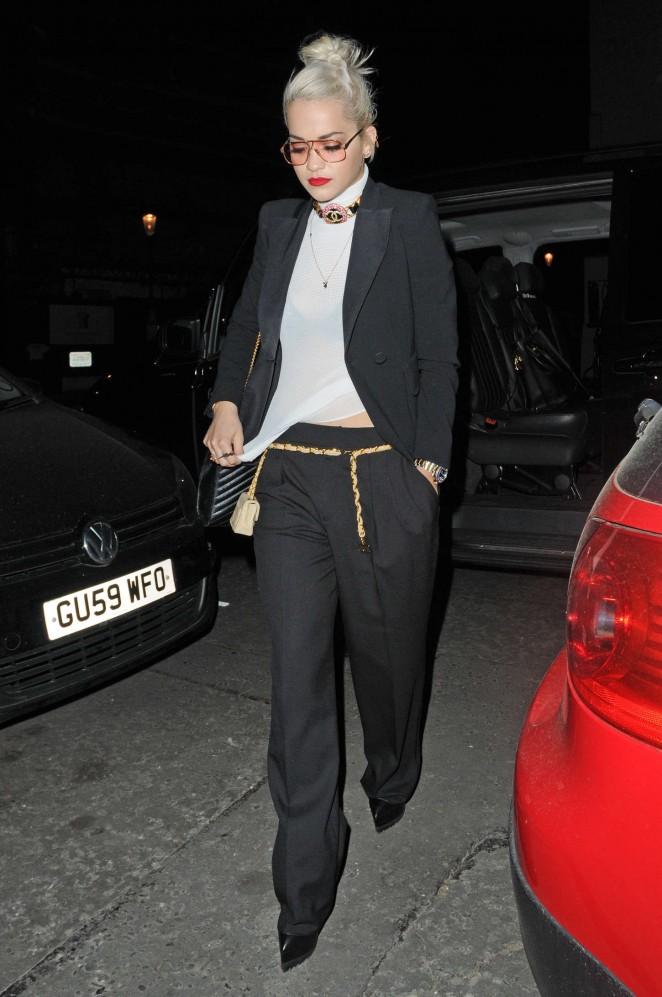 Rita Ora: Leaves Groucho Club SoHo -22