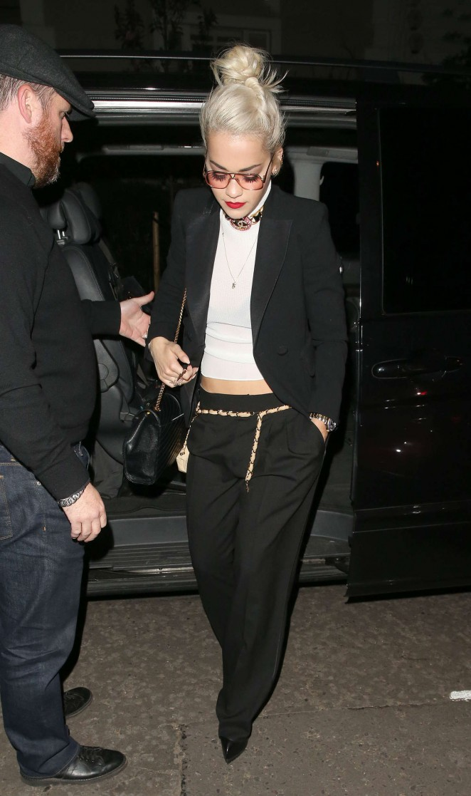 Rita Ora: Leaves Groucho Club SoHo -24