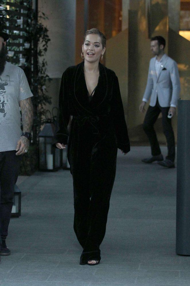 Rita Ora leaves her hotel in Milan -01