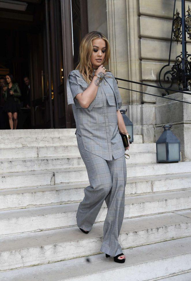 Rita Ora 2017 : Rita Ora Leaves her hotel in Paris -03
