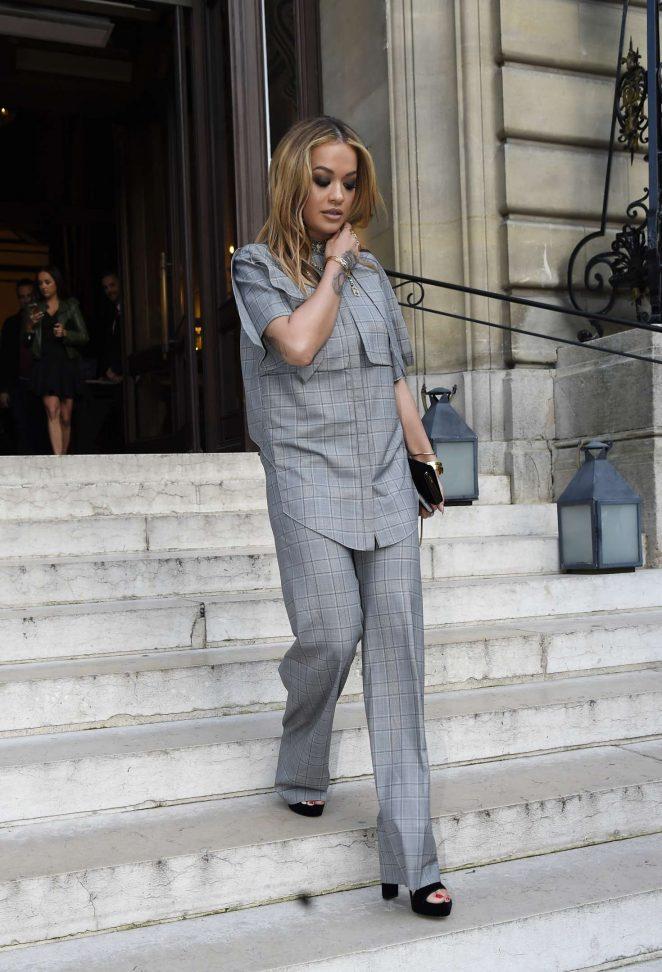 Rita Ora Leaves her hotel in Paris -07