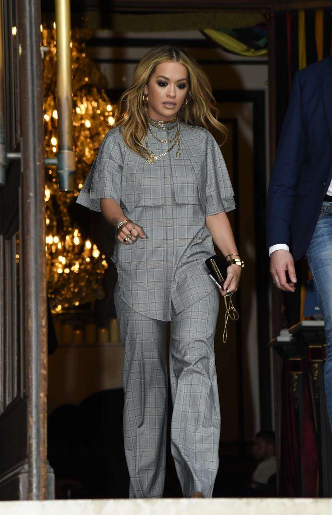 Rita Ora 2017 : Rita Ora Leaves her hotel in Paris -16