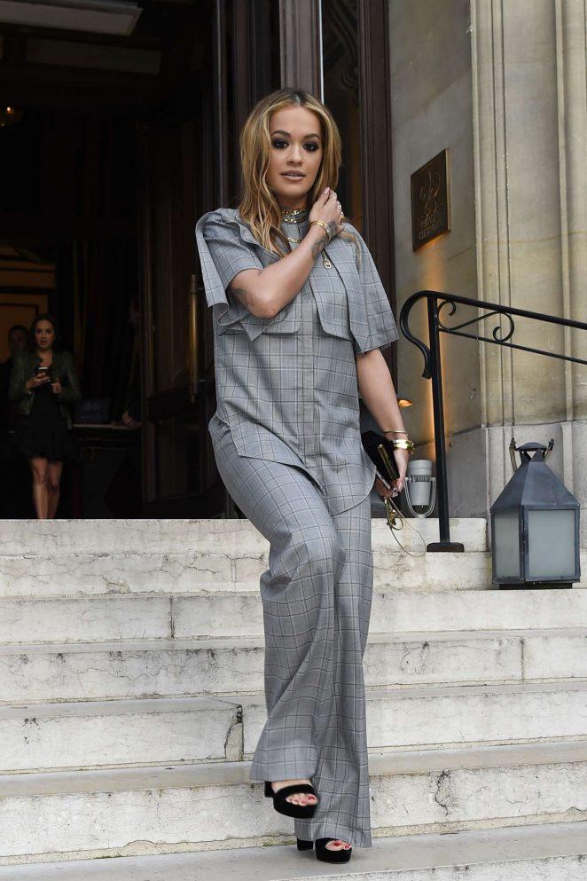 Rita Ora Leaves her hotel in Paris -20
