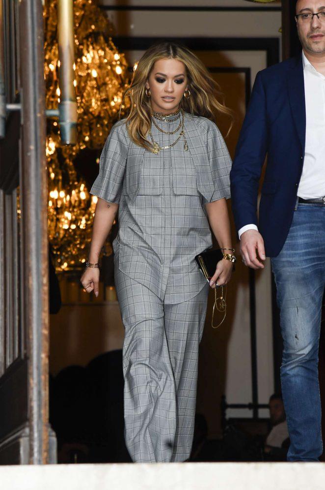 Rita Ora Leaves her hotel in Paris -21