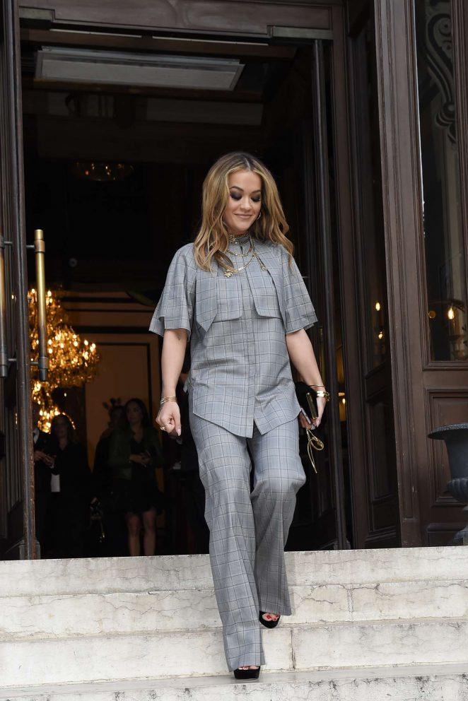 Rita Ora Leaves her hotel in Paris -22