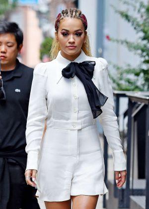 Rita Ora Leaves her Soho Apartment in NYC