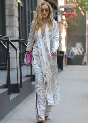 Rita Ora Leaves her TriBeCa Apartment in NYC