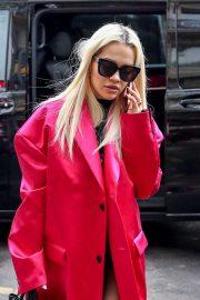 Rita Ora - Leaves Hotel Costes in Paris