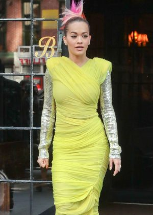 Rita Ora - Leaves the Bowery Hotel in New York