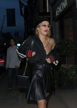 Rita Ora - Leaves TINGS Magazine launch party in London