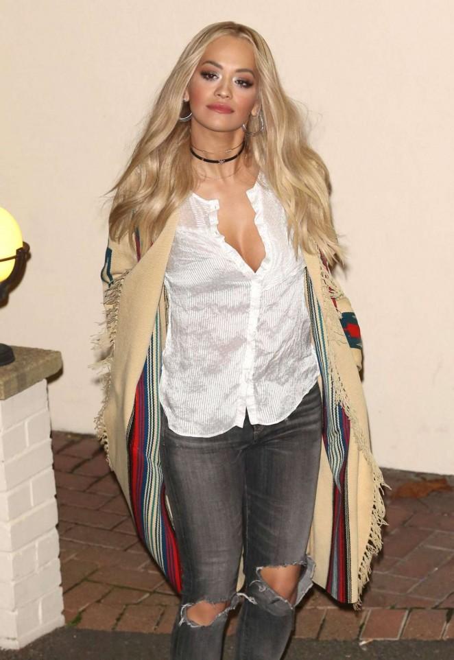 Rita Ora - Leaves X Factor Studios in London