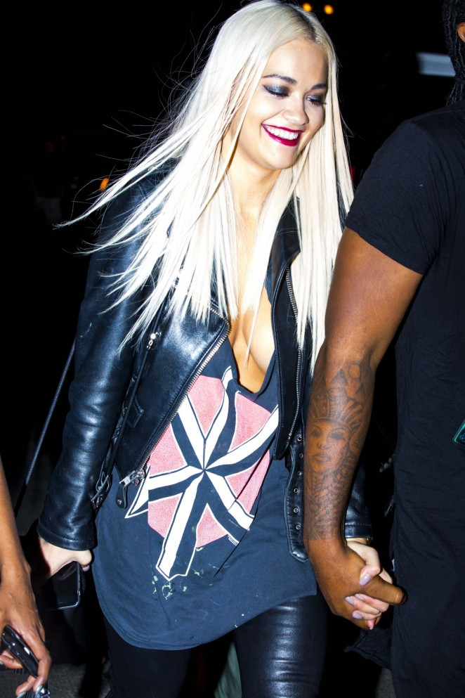 Rita Ora - Leaving a Chris Brown Concert in Anaheim