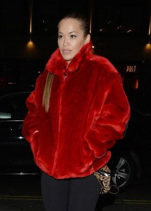 Rita Ora Leaving a music studio in London
