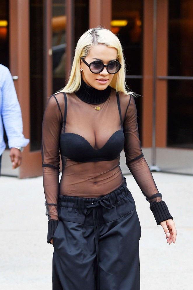 Rita Ora - Leaving a radio station in NYC
