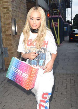 Rita Ora Leaving a Recording Studio in London