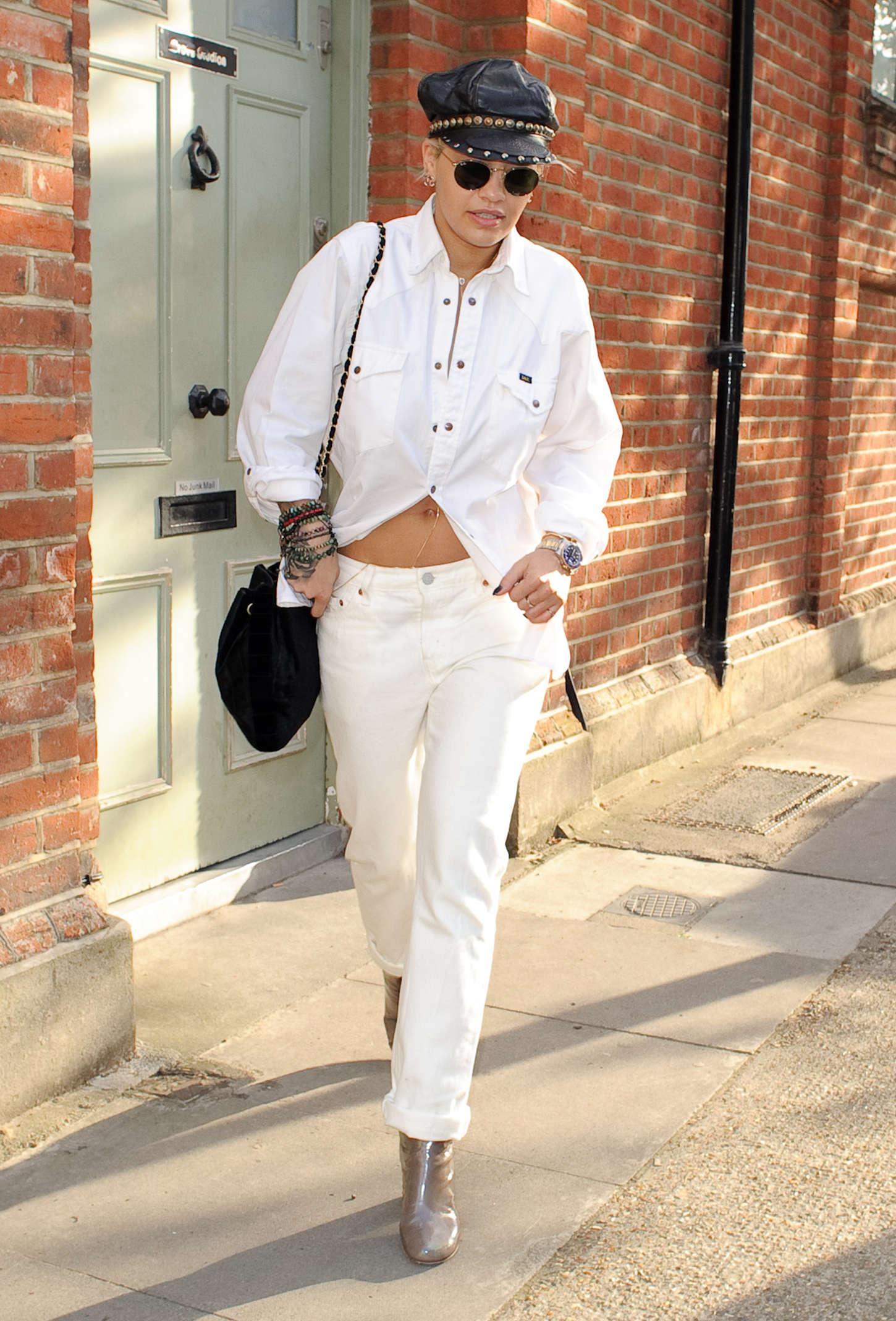 Rita Ora 2015 : Rita Ora: Leaving a Recording Studio -05