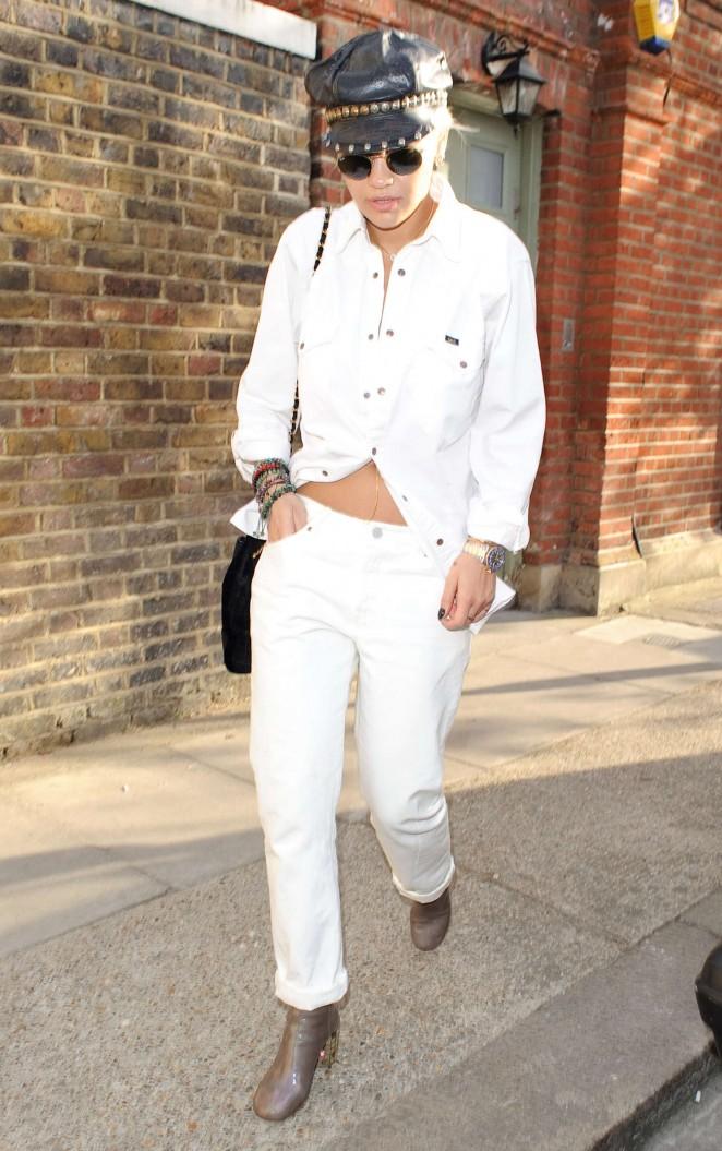 Rita Ora – Leaving a Recording Studio in London