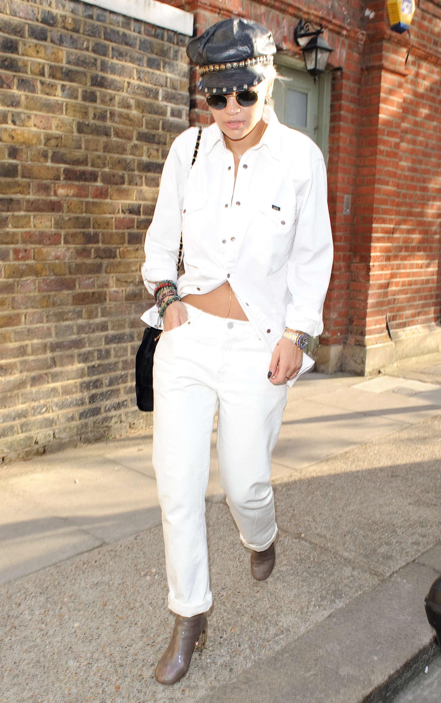 Rita Ora - Leaving a Recording Studio in London