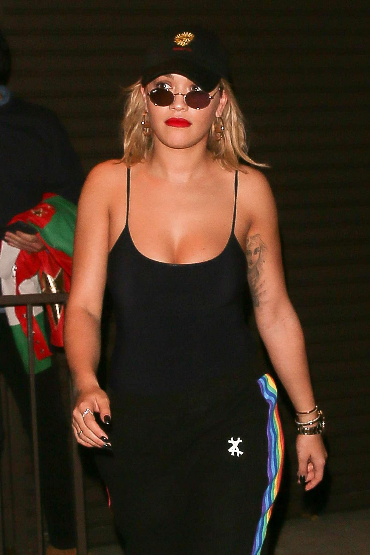 Rita Ora - Leaving a recording studio in West Hollywood