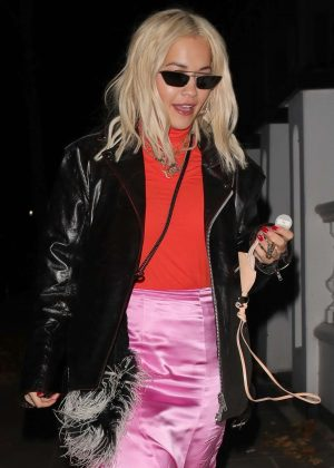 Rita Ora - Leaving a recording studio in Westminster
