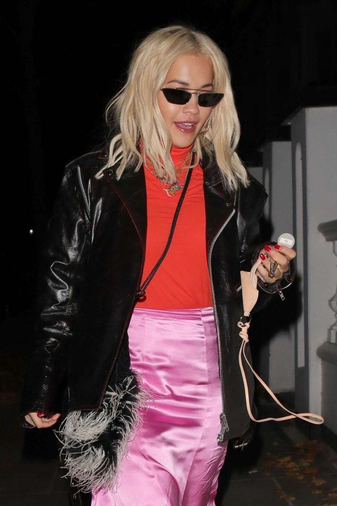 Rita Ora - Leaving a recording studio in Westminster