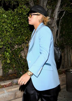 Rita Ora - Leaving a sushi restaurant in Los Angeles