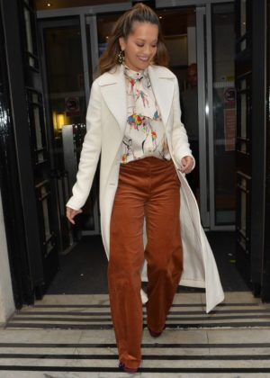 Rita Ora - Leaving BBC Radio Two in London