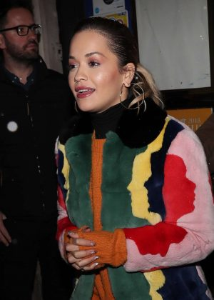 Rita Ora - Leaving 'C A Vous' Studios in Paris