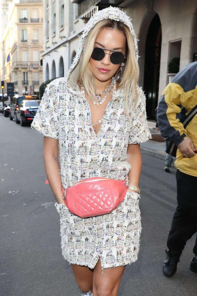 Rita Ora - Leaving Chanel Show 2018 in Paris
