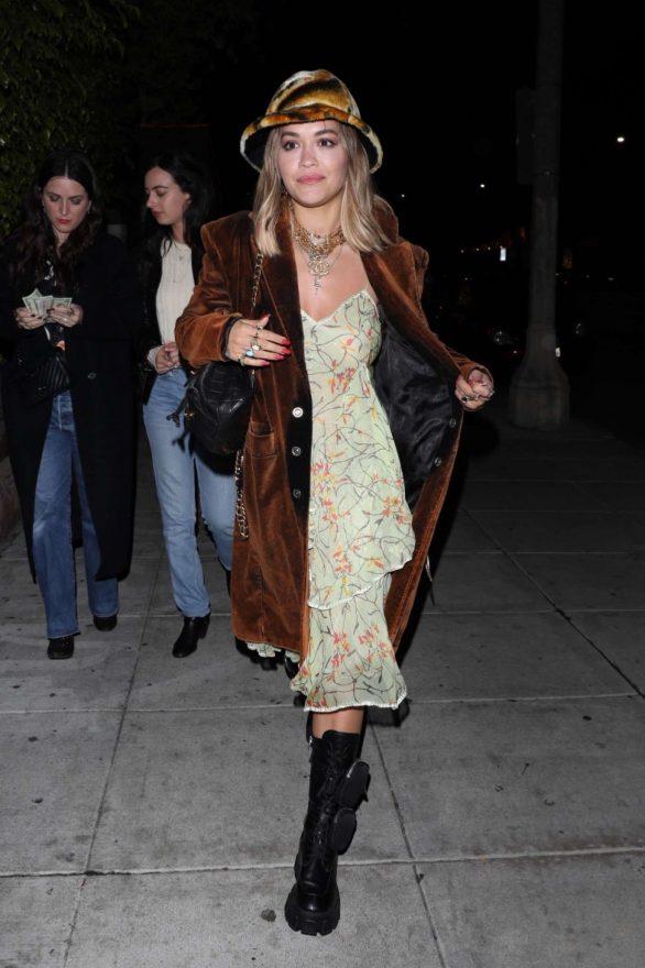 Rita Ora - Leaving dinner at Matsuhisa with Sarah Barthel