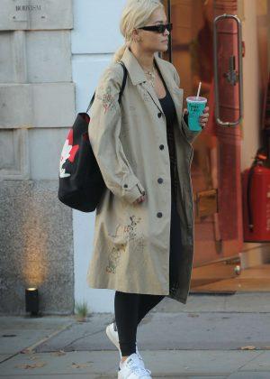 Rita Ora - Leaving exclusive Bodyism gym in London