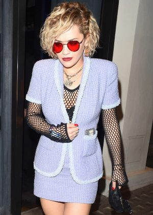 Rita Ora - Leaving Hakasan Restaurant in London