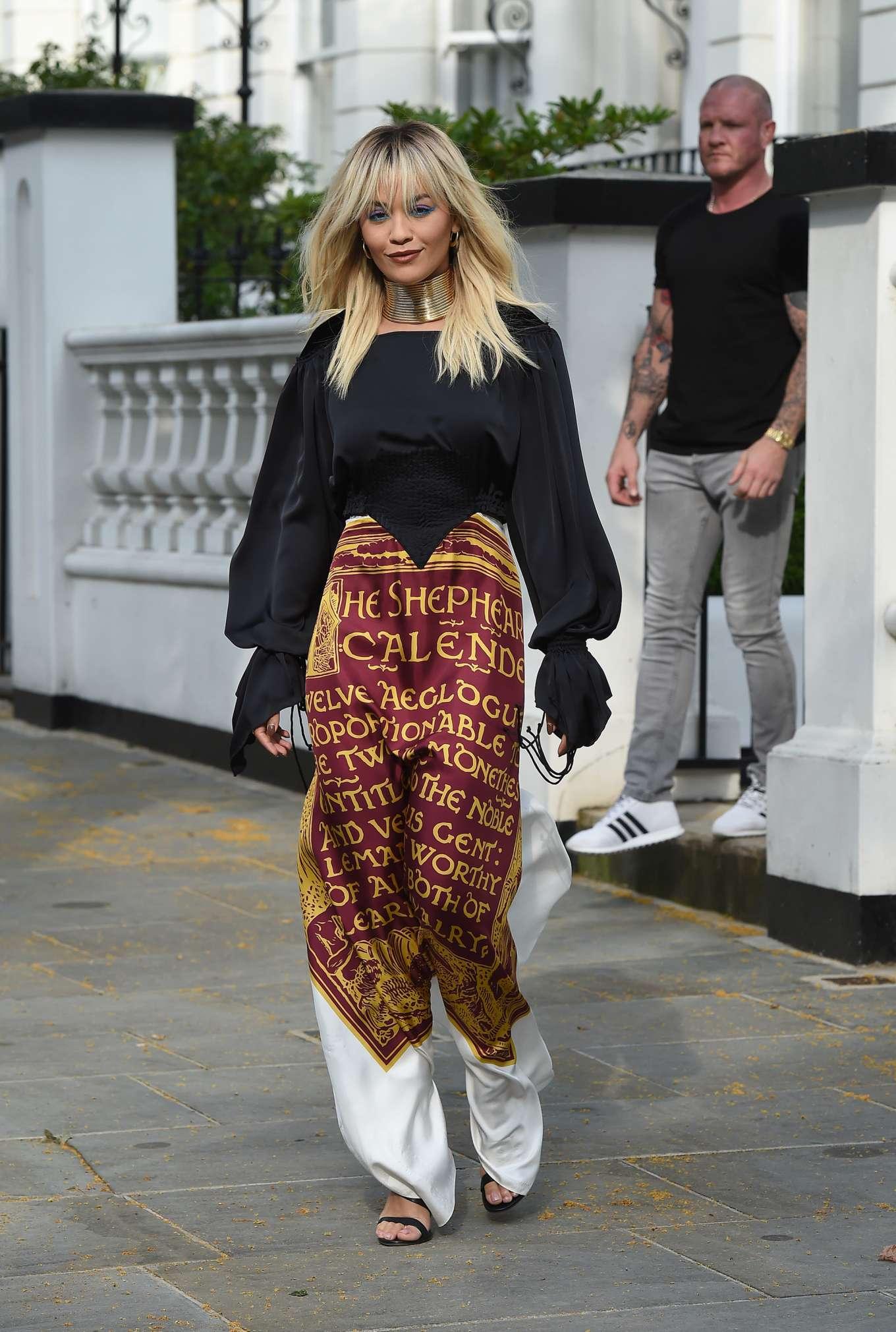 Rita Ora - Leaving her home in London