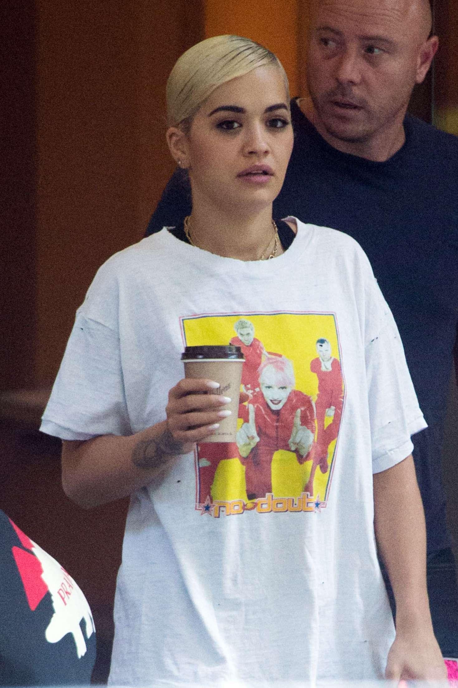 Rita Ora - Leaving her hotel in Melbourne