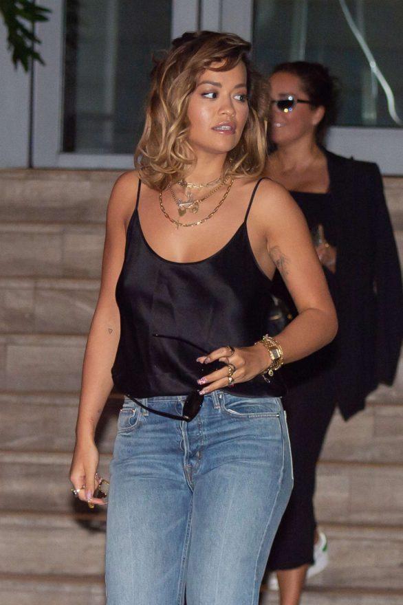 Rita Ora - Leaving her hotel in Miami