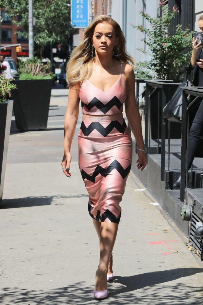 Rita Ora - Leaving her hotel in New York