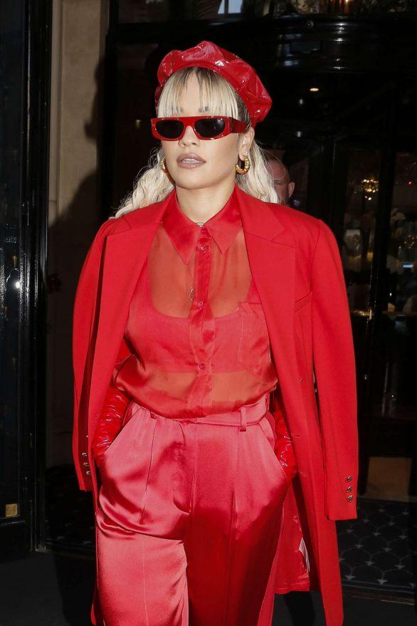 Rita Ora - Leaving her hotel in Paris
