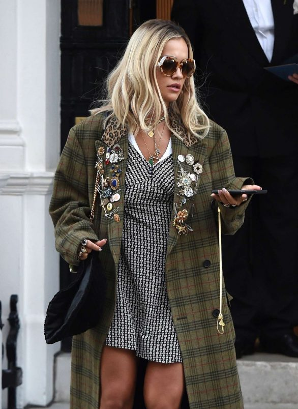 Rita Ora - Leaving her management office in London