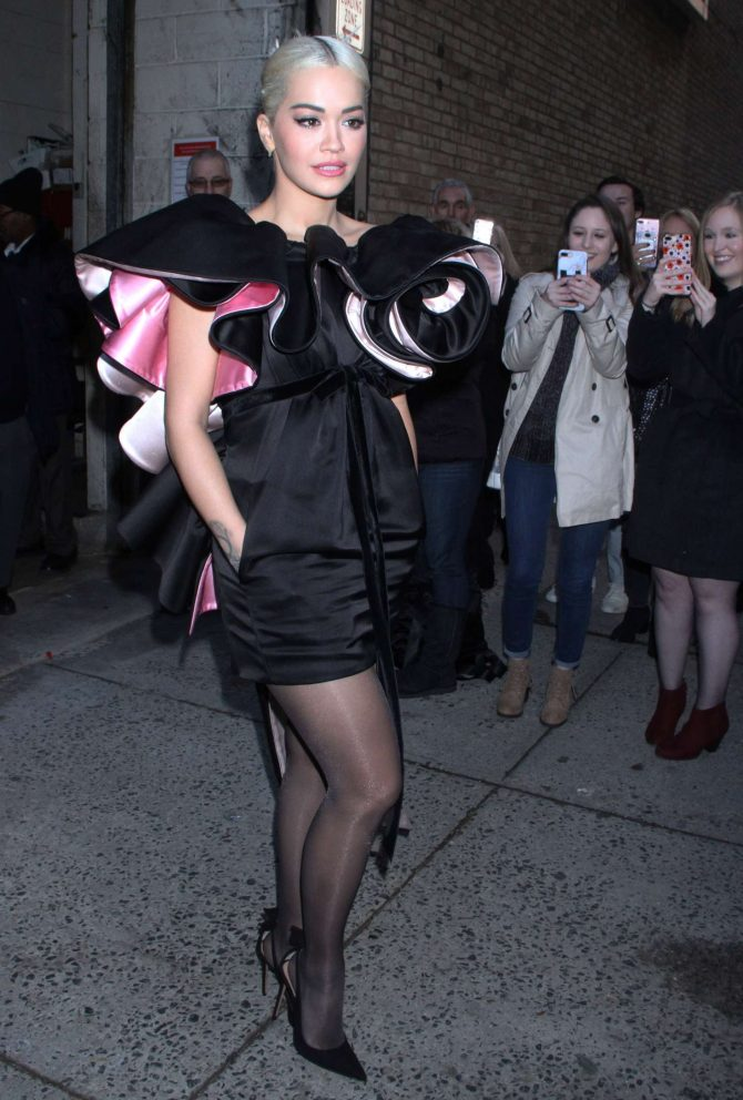 Rita Ora - Leaving Live With Kelly Show in New York City