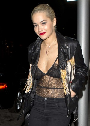 Rita Ora Leaving Mr. Chow Restaurant in Beverly Hills